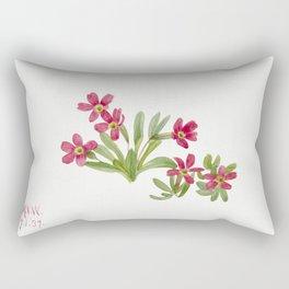 Primrose (Primula angustifolia) (1937) by Mary Vaux Walcott Rectangular Pillow