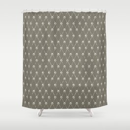 Faux Pearls Lattice Pattern Shower Curtain