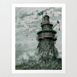 Skeleton Key Lighthouse Art Print