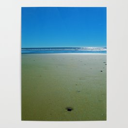 Fall days at the Beach Poster