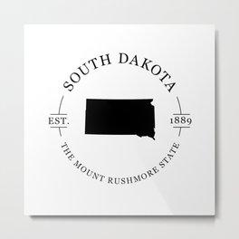 South Dakota - The Mount Rushmore State Metal Print