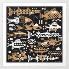 Boho Fishes II. Art Print