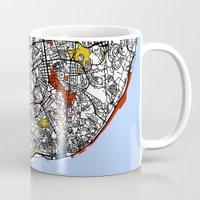 mondrian Mugs featuring Lisbon mondrian by Mondrian Maps