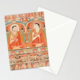 Portrait of Two Lamas, 13th Century Tibetan Art Stationery Cards