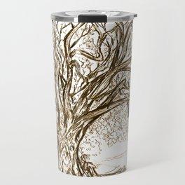 Love Tree Graphite Illustration Travel Mug