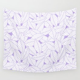 Leaves in Lavender Wall Tapestry