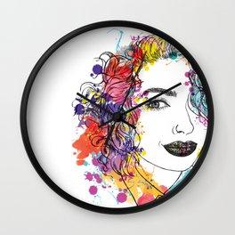 spring girl Wall Clock