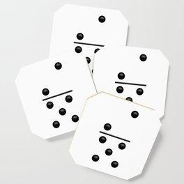 White Domino / Domino Blanco Coaster