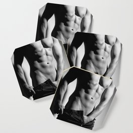 Photograph of a sexy man in Jeans Coaster