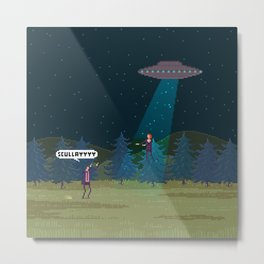 The X-Files Metal Print