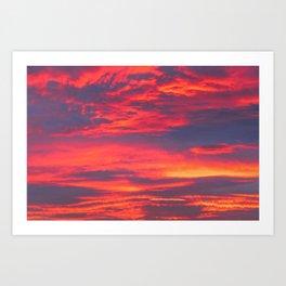 Inferno Sky Art Print