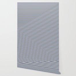 Navy Blue Breton Nautical Stripes Lines Minimal Stripe Line Wallpaper