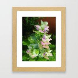 Blue and Purple Flower Framed Art Print
