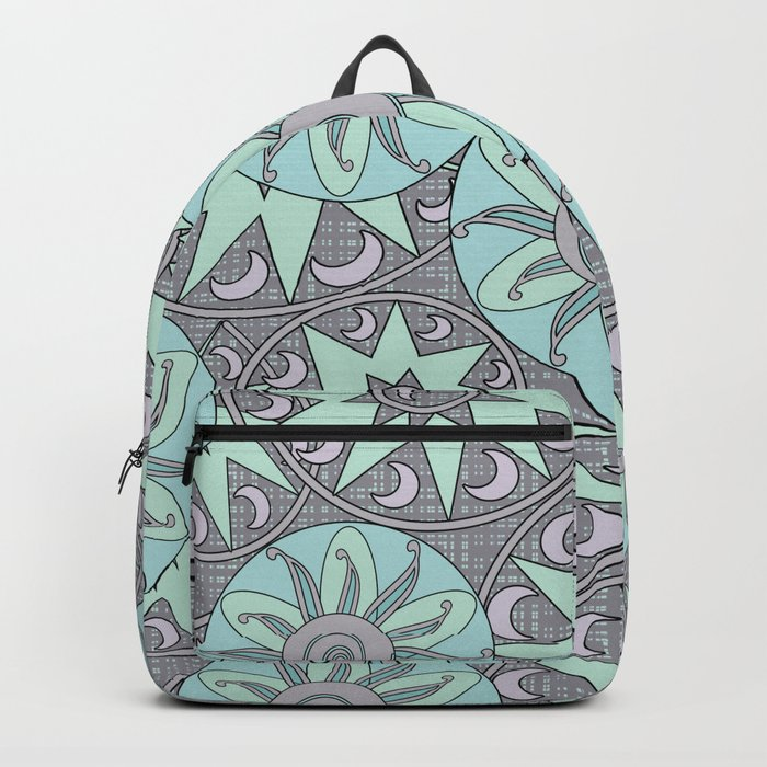 Abstract ethnic pattern Backpack