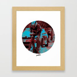 Leopard-Trek Colours Framed Art Print