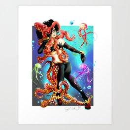 Deep Sea Life Art Print