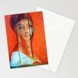 "Odilon Redon ""Veiled woman"" Stationery Cards"