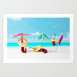 The Red, the Hot, the Chili on the beach Art Print