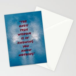The Only True Wisdom Stationery Cards
