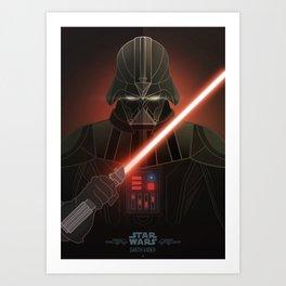 StarWars Villains - Darth Vader Art Print