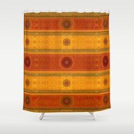 """Ethnic Pattern Warm Tones II"" Shower Curtain"