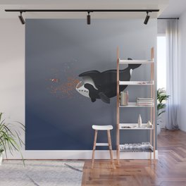 Pinocchio and the Bowhead whale Wall Mural