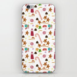Christmas Sweeties Candies, Peppermints, Candy Canes and Chocolates iPhone Skin