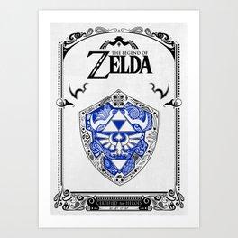 Zelda legend - Hylian shield Art Print
