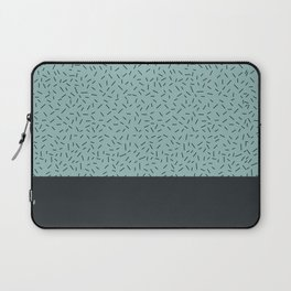 Navy little stripes on turquoise Laptop Sleeve