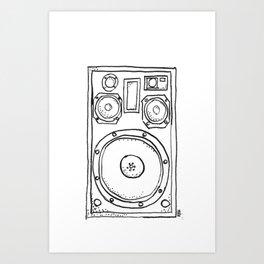 loudspeaker Art Print
