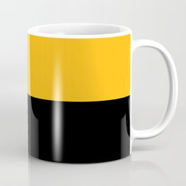 Pittsburgh Black And Yellow 412 Steel City Sports Colors Abstract Print Coffee Mug