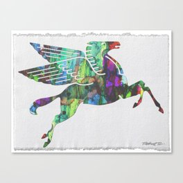 Mobil Pegasus ART 2 Abstract Painting Modern Robert R Splashyart Canvas Print