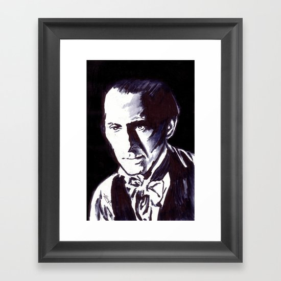 The Gentle Man of Horror Framed Art Print