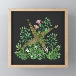 Saint Brigid's Cross in the Celtic Spring Framed Mini Art Print