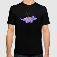 Trick-ceratops! Black MEDIUM Mens Fitted Tee