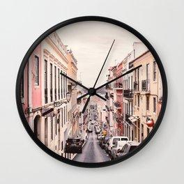 Pastel Wall Art, Pastel Decor, Pink Wall Art, House Print Wall Clock