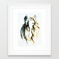 belle Framed Art Prints featuring Belle by ne11amae