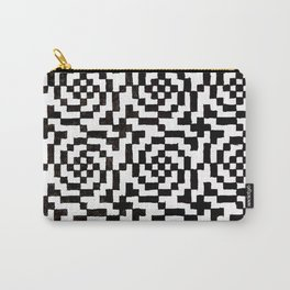Geometric Black & White Carry-All Pouch