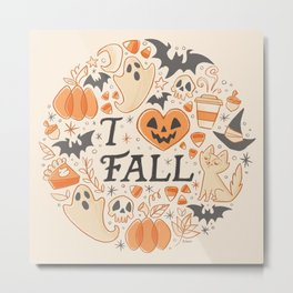 I Love Fall Metal Print
