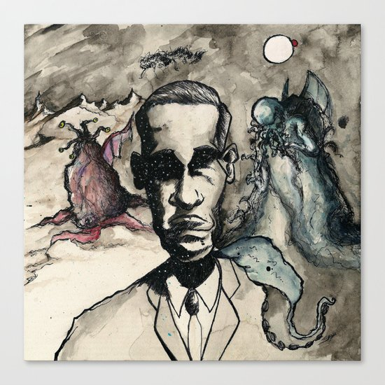 HP Lovecraft: Master of Strange Canvas Print