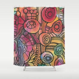 Growth from Chaos Shower Curtain