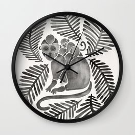 Monkey Cuddles – Black Palette Wall Clock