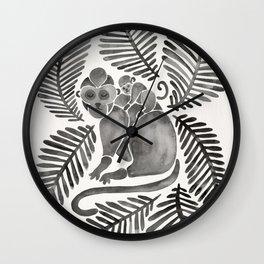 Monkey Cuddles – Black Palette Wall Clock