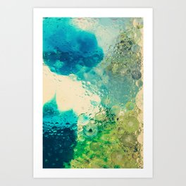 Retro Abstract Photography Underwater Bubble Design Art Print