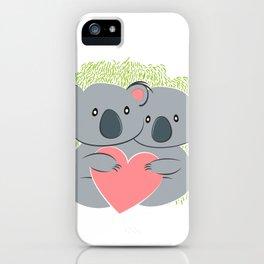 Koala innamorati iPhone Case
