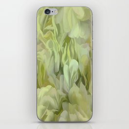 Soft Green Petal Ruffles Abstract iPhone Skin