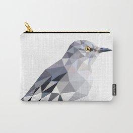 Gray Bird art Mocking Bird Geometric Carry-All Pouch