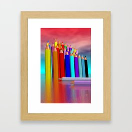 time to draw a picture -1- Framed Art Print