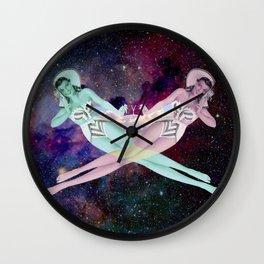 Bikini Girls in Space Wall Clock
