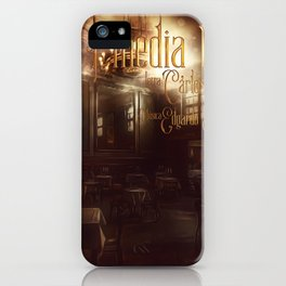 A media luz iPhone Case